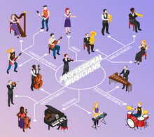 Professional Musicians Isometric Flowchart