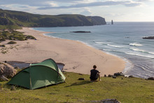 Tent Over Looking Sandwood Beach