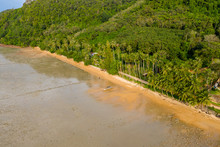 Aerial View Of A Small Tropica...