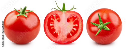 Tomatoes isolated on white Fotobehang