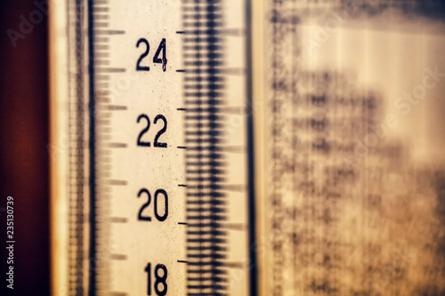 old thermometer background , Celsius Gradation