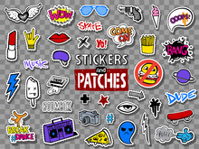 Hipsters Teens Stickers And Pa...