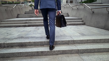 Male In Suit Going To Business...