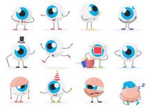 Cartoon Cute Funny Eye Ball Em...