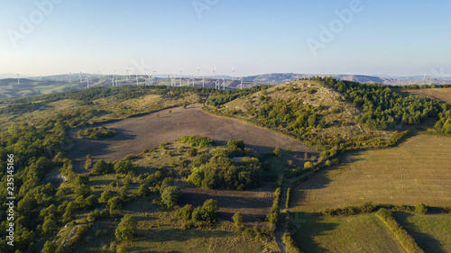 Photo Aerial view on the Irpinia countryside in the province of Avellino, Italy