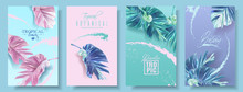 Vector Banners Set Of Alocasia...