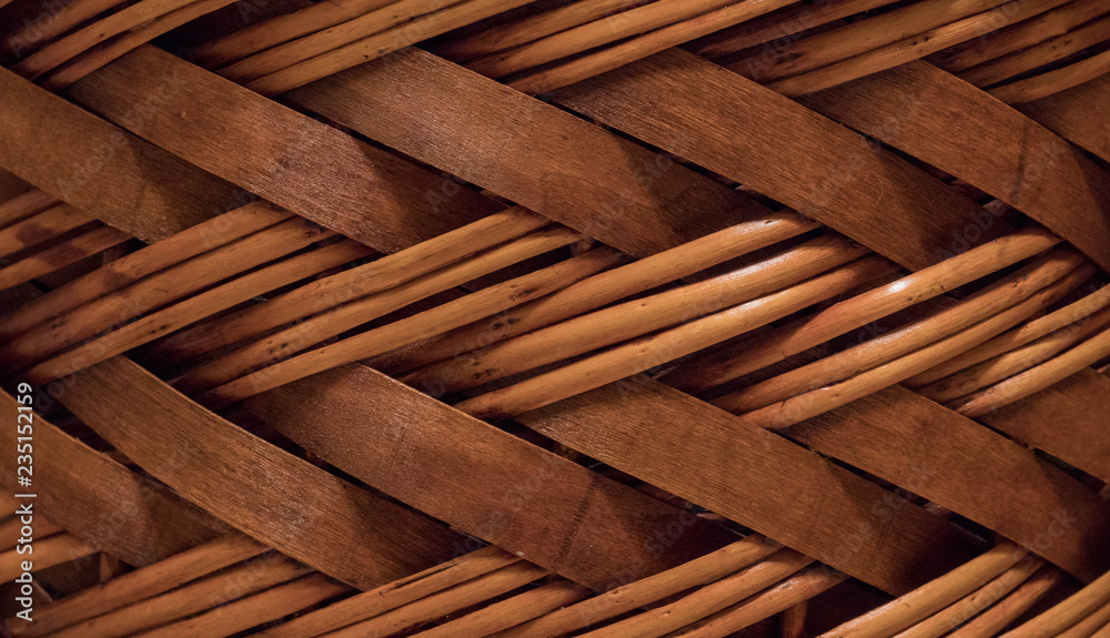 Fototapety, obrazy: wicker or rattan basket texture.High-resolution seamless texture