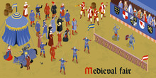 Isometric Medieval Horizontal Composition