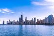 Chicago Skyline with Lake Michigan