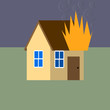 House fire vector image