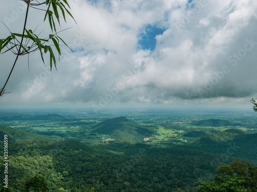 Beautiful View on the way to the top of Khao Luang mountain in Ramkhamhaeng National Park,Sukhothai province Thailand