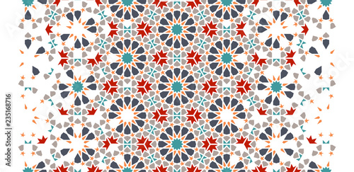 Photo Tile repeating vector border
