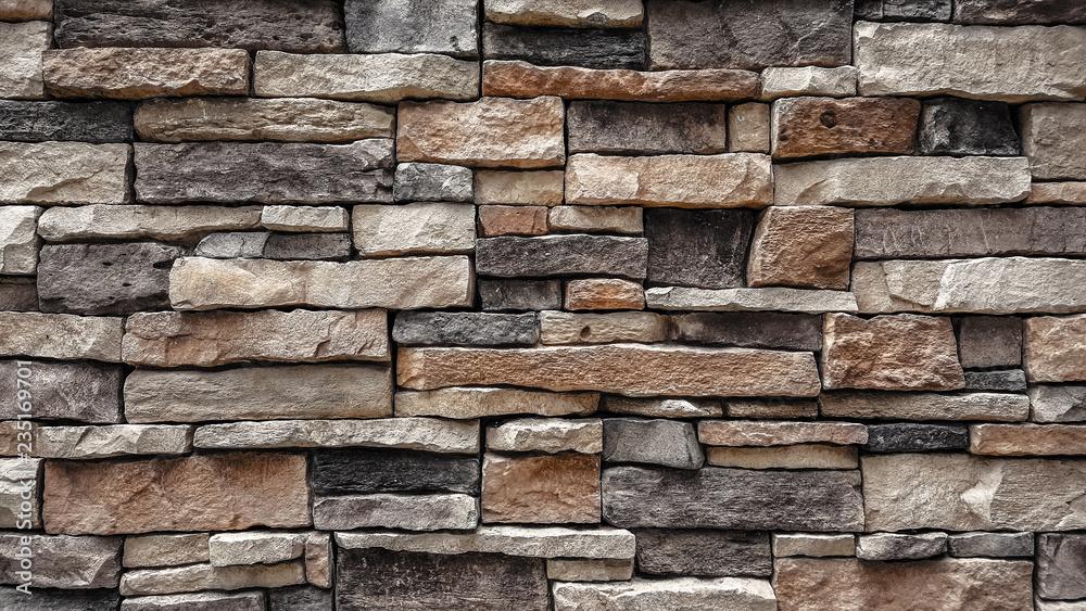 Fototapety, obrazy: natural stone brick wall texture background