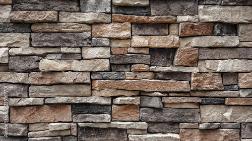 Photo  natural stone brick wall texture background