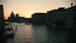 Italian port. Sunset. Cargo ships sailing. Beautiful overview