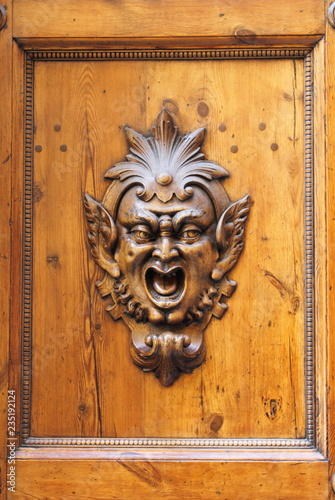 Fotografija  Renaissance decoration on a wooden door