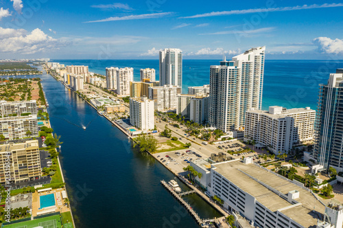 Aerial Hollywood Beach FL USA Fotobehang
