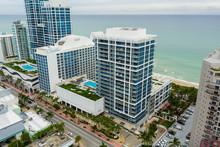 Aerial Drone Photo Of The Carillon And Canyon Ranch Miami Beach FL USA