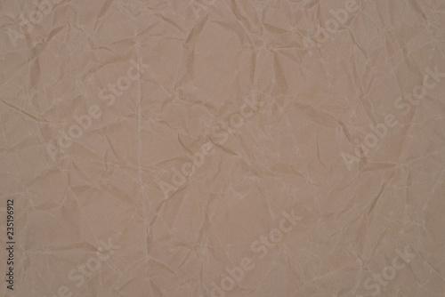 Fotografia, Obraz  brown  creased paper background texture