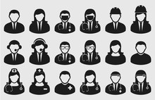 People Icon Set Of Different P...