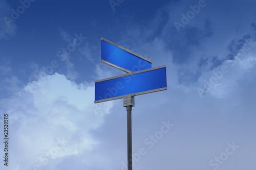 Fotografie, Obraz  3D Illustration of a street sign_doom and gloom