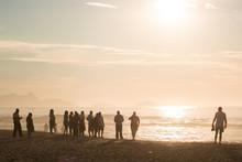 Group Of Tourists Enjoying Sun...