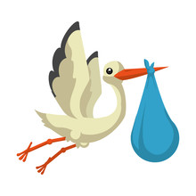 Cute Stork Baby Shower Card