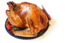 Roasted Thanksgiving Turkey Isolated On White