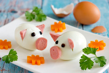 Food Art Idea - Edible Egg Pig...
