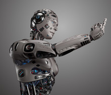 3D Render Of Futuristic Robot ...