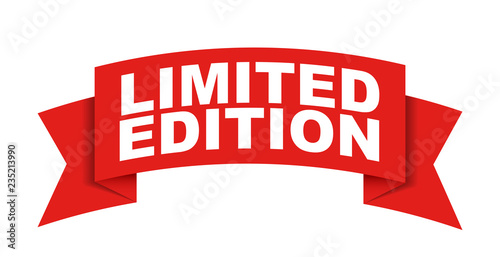 Fotografía red vector banner limited edition