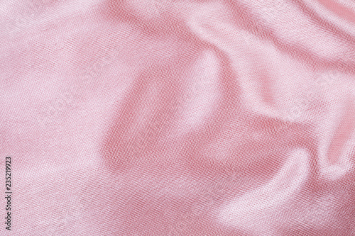 Poster Tissu Crumpled fabric pink texture