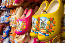 Dutch Colorful Wooden Clogs