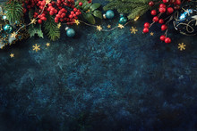 Christmas Decor Background Wit...