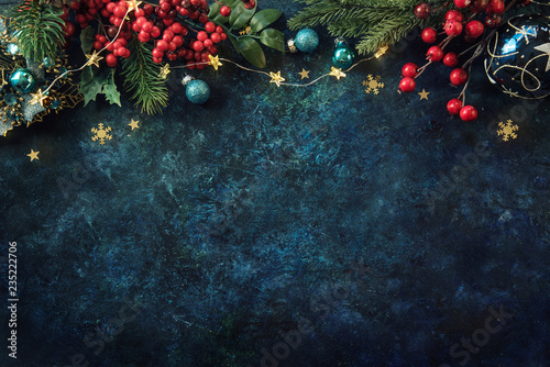 Christmas decor background with place for text