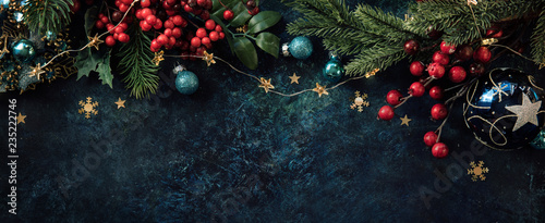 Christmas decor background with place for text Canvas