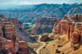 Charyn Canyon in South East Kazakhstan, taken in August 2018taken in hdr taken in hdr