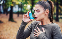 Young Woman Treating Asthma Wi...