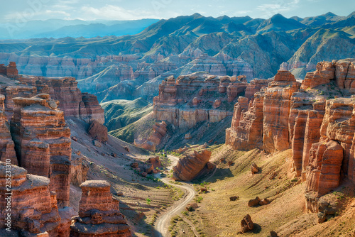 Canvas Print Charyn Canyon in South East Kazakhstan, taken in August 2018taken in hdr taken i