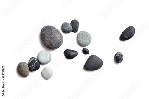 Cuadros en Lienzo Scattered sea pebbles