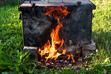 Metal Cooking Box For Open Fire