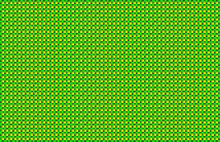 Yellow Green Woven Basketweave Abstract Background. Repeated Braiding Of Horizontal And Vertical Stripes Creates A Basket Weave Pattern In Yellow And Green, Woven With Strands Of Various Widths.