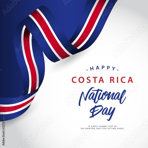 Photo Happy Costa Rica National Day Vector Template Design Illustration