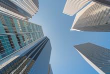 Upward View Of Skyscrapers Aga...