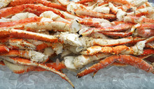 Close Up On Frozen Snow Crab L...