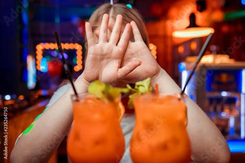 Valokuva  Fresh cocktail with orange and ice