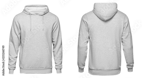 d58bb583661 Blank gray mens hoodie sweatshirt long sleeve with clipping path ...