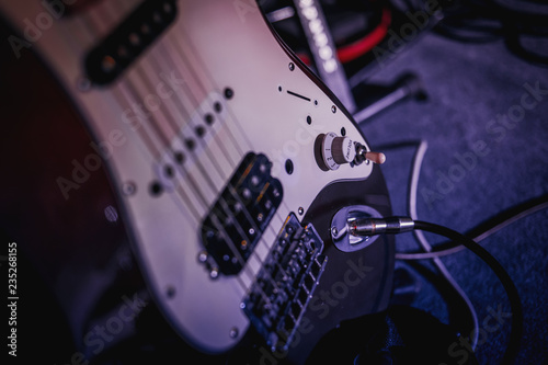 Photo  Closeup on musical instrument. Music sound hobby passion concept.