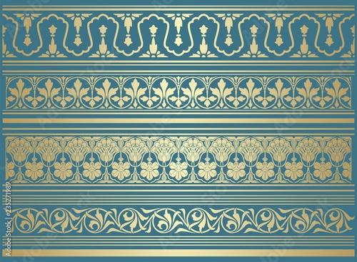 Fotografie, Obraz  paisley floral pattern, textile , Rajasthan, royal India