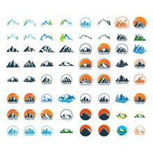 Mountain Logo Icon Design Template Vector